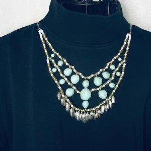 LUCKY BRAND JEWELRY: Silver Tone Turquoise & White